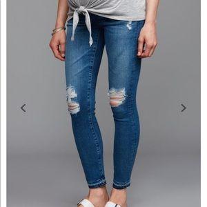 AG Farrah Skinny Ankle Maternity Jeans 30R